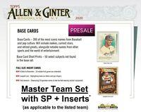 HOUSTON ASTROS 2020 Topps Allen & Ginter MASTER TEAM SET w/ SP + Inserts (17)