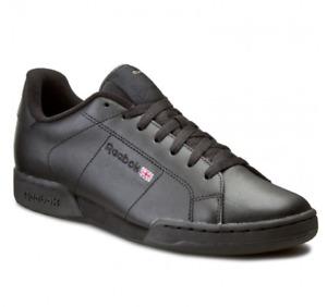 Reebok NPC Classic Trainers Mens Reebok Leather Sports Retro Trainers Black
