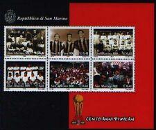 SAN MARINO 1999 foglietto Calcio MILAN   nuovo **