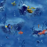 Disney Finding Nemo in Blue on Sure Strip Wallpaper DS7902