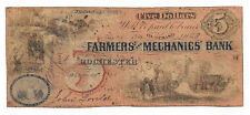 1861 The Farmers & Mechanics' Bank, Rochester, NY - $5 Note No.1468 - 2355-UNL