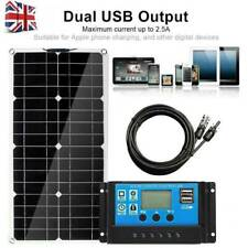 50W 12V Semi Flexible Solar Panel Battery Charger Kit With 30A Controller