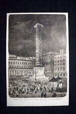 Roma - La musica in Piazza Colonna Incisione del 1876