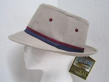 New Small Dorfman Pacific Poplin Rain / Sun Golf Hat - water repellent! - Beige