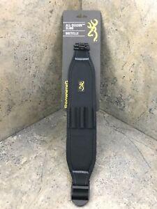 Browning All Season Black Rifle Sling - 122199925 - Cartridge Loops, Swivels Inc