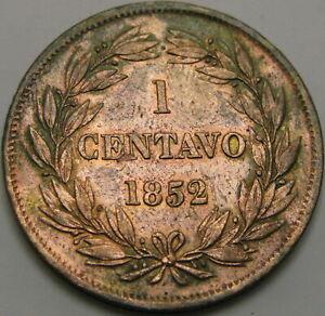 VENEZUELA 1 Centavo 1852 - Copper - VF - 1849 ¤