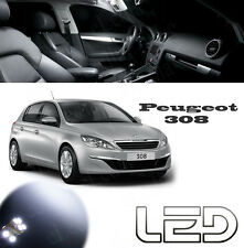 Peugeot 308 conjunto 11 bombillas LED Blanco Bitácora Luz techo Maletero Suelos