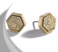 Gold Druzy Studs Earrings  Kendra + Chloe  Design by Isabel J. Scott