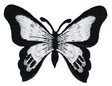 bg65 Schmetterling Schwarz Butterfly Aufnäher Applikation Bügelbild 7,7 x 5,6 cm