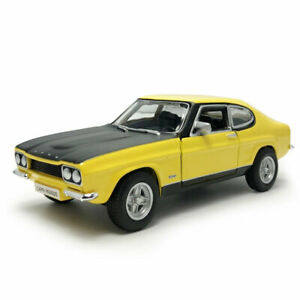 1/32 Scale 1970 Ford Capri RS2600 Model Car Diecast Toy Vehicle Kids Gift Yellow