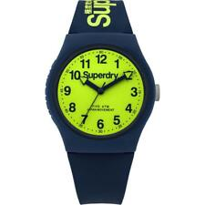 Superdry Urban Blue Silicone Strap Unisex Watch SYG164UN