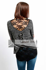 Women's Thin Knit Hip Length None Scoop Neck Jumpers & Cardigans