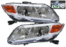 2012 Honda Civic 2/4D OE Style Chrome Head Light DEPO NEW
