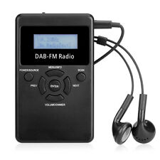 Portable DAB+ / FM RDS Radio Pocket Digital DAB Receiver Rechargeable Battery