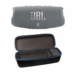 JBL Charge 5 Gray Bluetooth Speaker & divvi Hardshell Case Kit