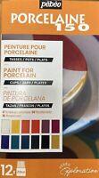 Pebeo Porcelaine 150 Set 12 x 20ml Paint Bottles China Ceramic Painting 757471