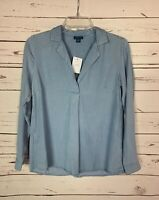 J.Jill Denim Women's Extra Small Petite XSP Blue Shirt Top Spring NEW TAGS $89