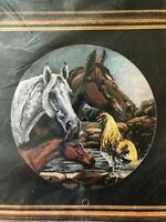 1991 Janlynn 'Morning Call' Horses Counted Cross Stitch Kit #58-15 New Sealed