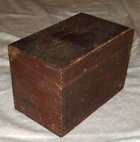 Antique Wooden Box With Lid. Simple/Primitive.