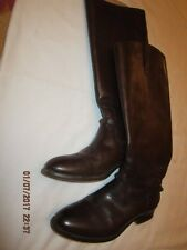 Preowned Beautiful Women's Size 8 1/2 B FRYE Tall Brown Leather Boots 76976