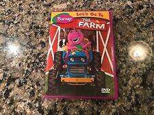 Barney Lets Go To The Farm DVD! 1983 Sesame Street Carlie Brown Kidsongs Caillou