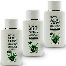 3 x Royal Aloe Vera Pflege Gel After Sun Shave 92% Bio Aloe Vera Schisandra