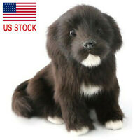 Realistic Black Labrador Dog Puppy Plush Simulation Animal Model Doll Toy Gift