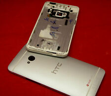Original HTC One M7 Akkudeckel Gehäuse Backcover Battery Cover Housing Silber
