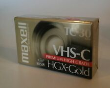 NEW Maxell VHS-C HGX-Gold TC-30 Blank Camcorder Video Cassette Tape