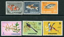 Weeda Singapore 55b/67a VF MNH 1962-63 issues with watermark sideways CV $29.85