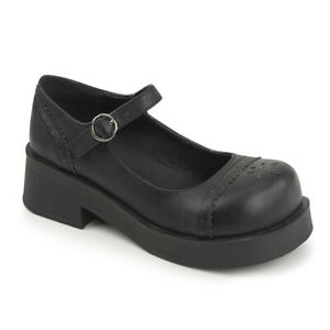 Demonia CRUX-07 Size UK 3 Blk Vegan Leather Women's Heels & Platform Shoes