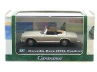 Cararama Hongwell Diecast Mercedes Benz 280SL Roadster Tan 1 72 Scale Boxed