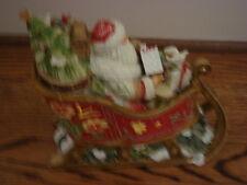 "NIB Fitz and Floyd ~ Santa with Sleigh Musical ~ ""Jingle Bells"""