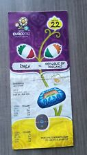 TICKET EURO 2012 IRLAND - ITALIA BILLET FOOT biglietto tour final