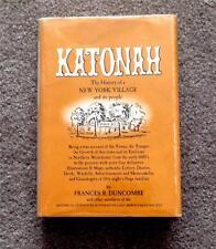 RARE 1961 1ST ED. HISTORY OF KATONAH NEW YORK NY VINTAGE PHOTOS FREE SHIPPING