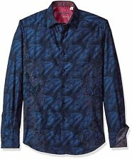 Robert Graham Limited Edition Brush Strokes Embroidered Shirt L Large NEW $398