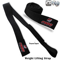 Weight Lifting Wrist Straps Padded Hand Bar Support Training Gym Straps Black