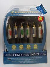 Vivanco Prowire High End RCA Component Video Cinch Kabel, 1,5m - PR/CR Y PB/CB