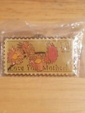 """22 cents """"love"""" pins. """"LOVE YOUR MOTHER"""""""