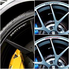 x8 SEAT SPORT Rim Wheel Decals Curved Stickers Ibiza Leon Altea Cupra FR ST Tdi