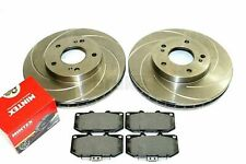 Nissan 300ZX Z32 TT Front Swirl Grooved Brake Discs and Mintex Pads