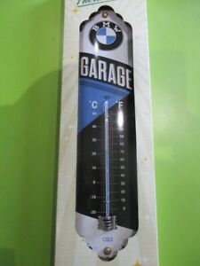 OFFICIAL LICENSED BMW GARAGE METAL THERMOMETER ,COLLECTABLE
