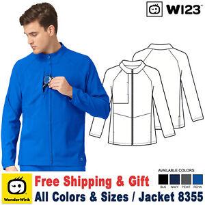 WonderWink Scrubs W123 Men's New Zip Front Warm Up Mock Neck Jacket