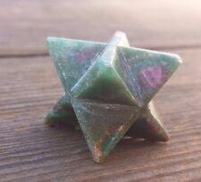 NATURAL RUBY IN FUCHSITE GEMSTONE MERKABA STAR (ONE) - BUY IT NOW