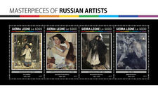 Sierra Leone 2017 MNH Russian Artists Mikhail Vrubel Bilibin 4v M/S Art Stamps