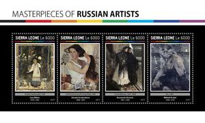 Sierra Leone Art Stamps 2017 MNH Russian Artists Mikhail Vrubel Bilibin 4v M/S