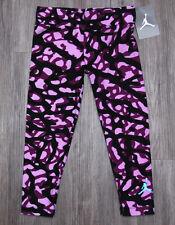 Air Jordan Girls Printed Leggings ~ Pink, Purple & Black ~