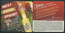SAN MIGUEL SPANISH BEER, BEER MAT/COASTER FROM U.K. UNUSED -GV 170714