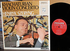 PHILIPS LP 838 418 AY: HENRYK SZERYNG Khachaturian Violin Concerto 1960s HOLLAND