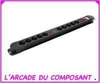 """PROMO""  BLOC PRISES MULTIPRISES 10 PC AVEC 2 INTERS (16-2014) poids 1,30Kg"